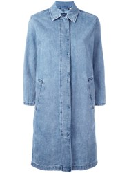 Levi's Made And Crafted Mac Denim Coat Blue