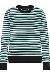 Jonathan Saunders Pye Striped Merino Wool Sweater Green