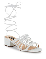 Design Lab Lord And Taylor Mya Lace Up Sandals White