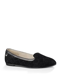 Ugg Bentlie Diamond Quilted Flats Black