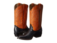 Roper Printed Caiman Round Toe Boot Black Cowboy Boots