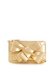 Delpozo Present Bow Clutch Gold