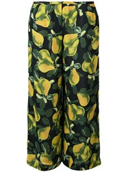 Marc Jacobs Printed Wide Leg Trousers Black