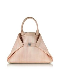 Akris Ai Small Pale Rose Horsehair Tote Bag Pink