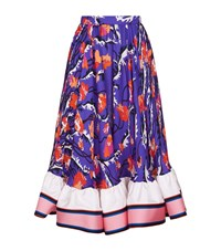Emilio Pucci Ranuncoli Ruffle Midi Skirt Female Purple