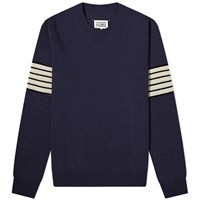 Maison Martin Margiela 14 Arm Stripe Crew Knit Blue