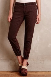 Anthropologie Utility Joggers Plum
