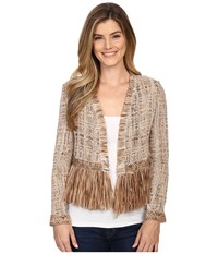 Nic Zoe Cork Fringe Jacket Multi Women's Coat