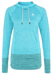 Odlo Briana Long Sleeved Top Algiers Blue Grey Melange Blend