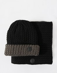 Religion Gift Set Hat And Snood Black