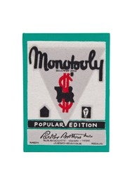 Olympia Le Tan Monopoly Popular Edition Embroidered Clutch Green Multi