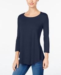 Jm Collection Scoop Neck Top Only At Macy's Intrepid Blue