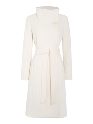 Pied A Terre Hallie Funnel Neck Coat Oyster