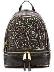 Michael Kors Floral Studded Backpack Black