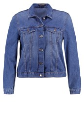 Dorothy Perkins Curve Western Denim Jacket Mid Wash Blue Denim