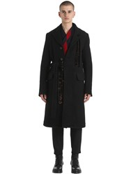 Damir Doma Heavy Double Wool And Mohair Coat Black