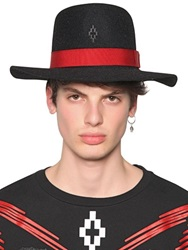 Marcelo Burlon County Of Milan Gaucho Wool Felt Wide Brim Hat