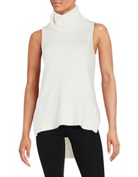 Design Lab Lord And Taylor Sleeveless Cowl Neck Sweater Winter White