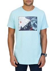 Nautica Graphic Print Cotton Tee Bright Aqua