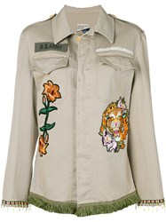 History Repeats Embroidered Tassel Button Jacket Nude And Neutrals