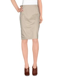 Fay Skirts Knee Length Skirts Women Beige