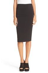 Alice Olivia Women's Ciera Side Ruched High Waist Pencil Skirt