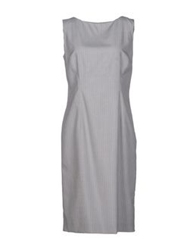 Antonio Fusco Knee Length Dresses Light Grey