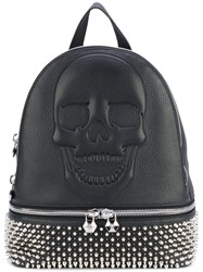Philipp Plein Studded Skull Backpack Women Calf Leather Metal One Size Black