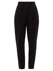 Proenza Schouler Pleated Waist Draped Tailored Trousers Black