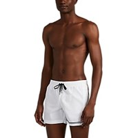 Danward Striped Swim Trunks White