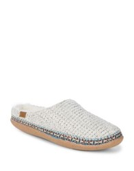 Toms Braided Faux Fur Trimmed Slippers Natural
