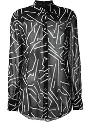 Alexander Wang Geometric Print Shirt Black