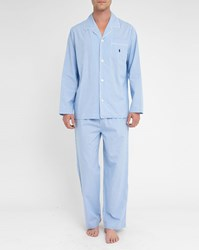 Polo Ralph Lauren Sky Blue Micro Gingham Pyjamas