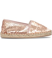 Miss Kg Desiree Sequinned Espadrilles Gold