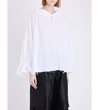 Marques Almeida Dropped Shoulder Canvas Top White