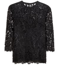 Dolce And Gabbana Lace Blouse Black