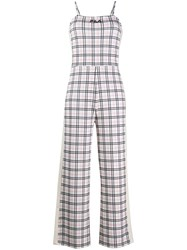 Fila Checked Jumpsuit Neutrals
