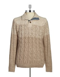 Weatherproof Vintage Cable Knit Sweater Beige