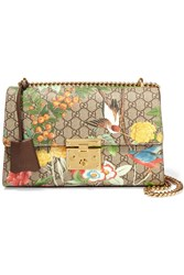 Gucci Padlock Medium Printed Coated Canvas And Textured Leather Shoulder Bag