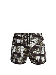 Neil Barrett Camouflage Palm Print Swim Shorts Black Multi