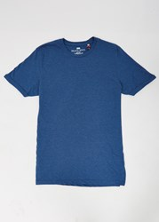 Brave Soul Bravesoul Short Sleeve T Shirt With Rolled Sleeves Blue
