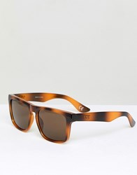 Vans Squared Off Sunglasses In Tortiose Shell Brown Tortoise Multi