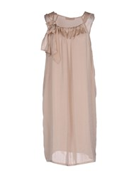 .. Merci Knee Length Dresses Pink