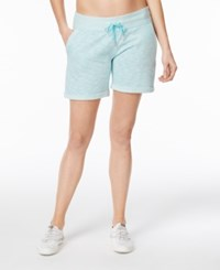 Calvin Klein Performance French Terry Cuffed Shorts Blue Radiance