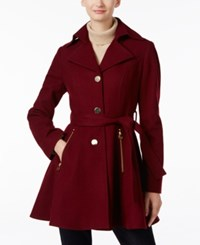 Inc International Concepts Belted Skirted Peacoat Only At Macy's Cabernet