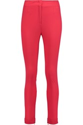 Vionnet Stretch Cotton Blend Skinny Pants Pink