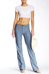 Mother The Socialite Feathers Wide Leg Jean Blue