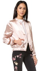 Re Named Satin Bomber Jacket Blush
