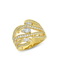 Crislu Sterling Silver And 18K Gold Sheer Style Ring
