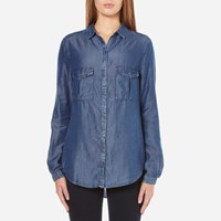 Boss Orange Women's Emilitye Blouse Dark Blue